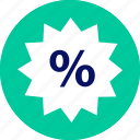 bought, buying, merchandise, percent, shopping, sold, tag icon