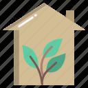green, house