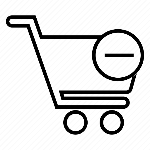 cancel, delete, purchase, remove, remove from basket, remove from cart, remove product icon