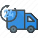 all, ecommerce, non, shipping, stop, time icon