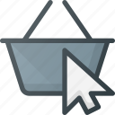 basket, cart, click, collect, ecommerce, online, shop icon