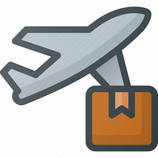 commerce, delivery, e, ecommerce, plane, shipping icon