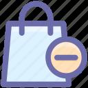 delete, fashion, hand bag, ladies bag, purse, shopping bag icon