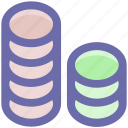 coin, coins, currency, gambling chips, gambling ships, money, stack icon