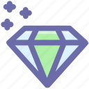 brilliant, crystal, diamond, gem, gemstone, value icon