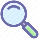 find, magnifier, magnifying glass, search tool, tool, view, zoom icon