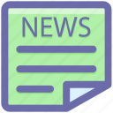 news, newspaper, paper, press, reading, reding, subscribe icon