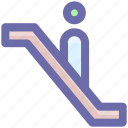 escalator, level, lift, staircase, stairs, up icon