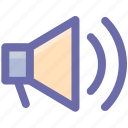 announcement, loud, loudspeaker, megaphone, sound, speaker icon