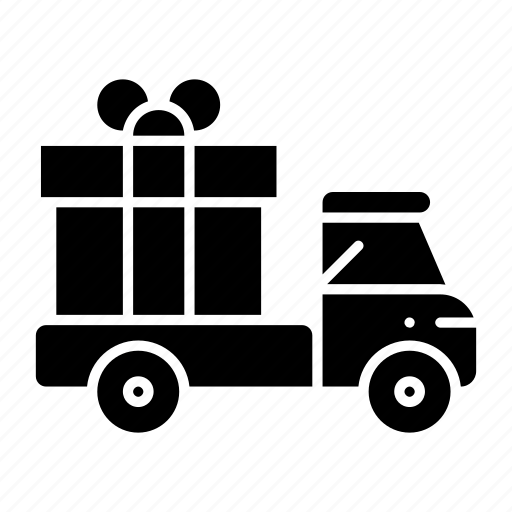 delivery, delivery truck, ecommerce, gift, shipped, shipping, truck icon
