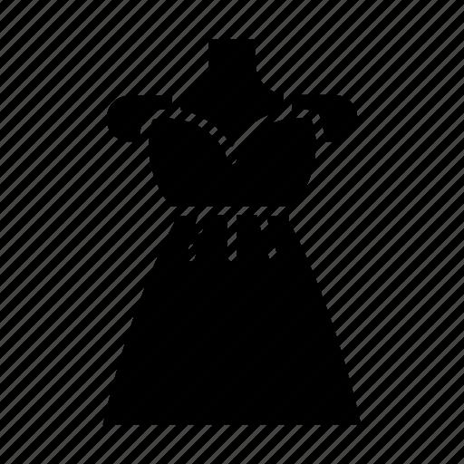 clothing, dress, elegant, fashion, femenine, garment, mannequin icon