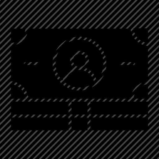 bill, business and finance, dollar bill, dollar note, money, profit, sales icon