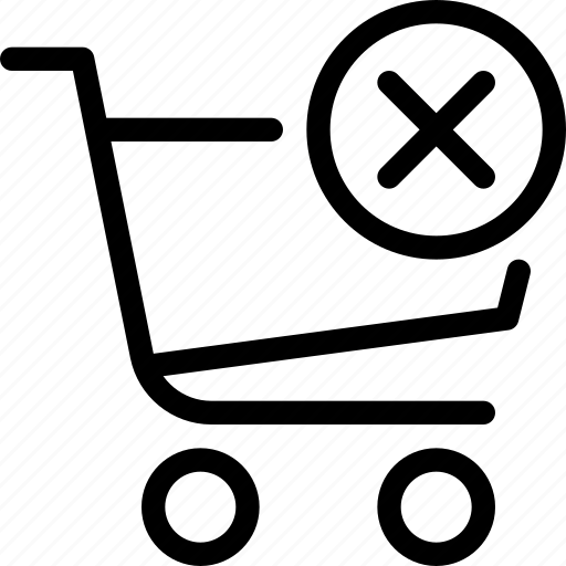 bag, cart, clear, ecommerce, shopping icon