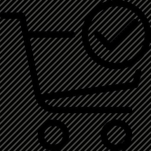 cart, done, ecommerce, shop, shopping icon
