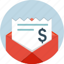 bills, mail, email, envelope, letter, message icon