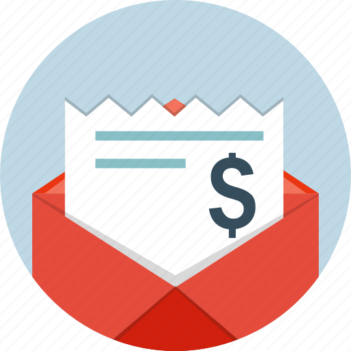 bills, email, envelope, letter, mail, message icon