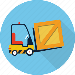 delivery, forklift, shipping, transport, transportation, truck, warehouse icon