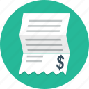 invoice, bill, payment, business, finance, money, shopping icon