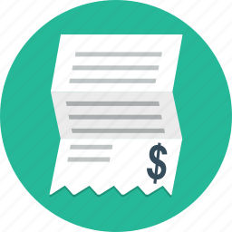bill, business, finance, invoice, money, payment, shopping icon