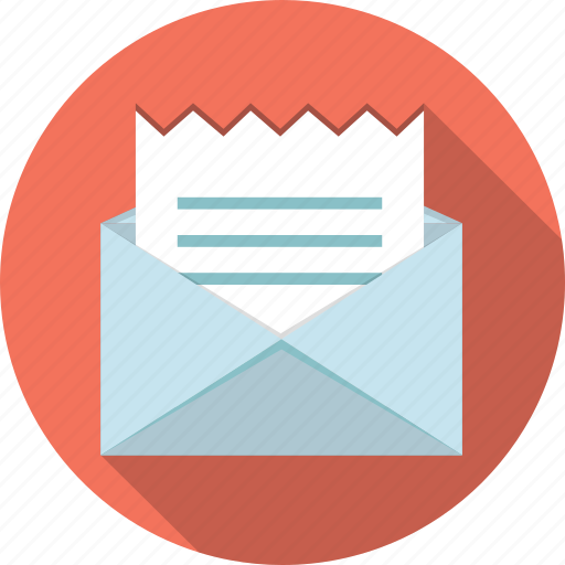 email, envelope, invoice, letter, mail icon