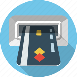 atm, business, card, finance, pay, payment, shopping icon