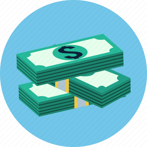 business, cash, dollar, finance, money, payment, stack icon