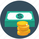 cash, currency, dollar, money, payment, stack icon