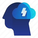 brain, brainstorming, storm, think, thought icon