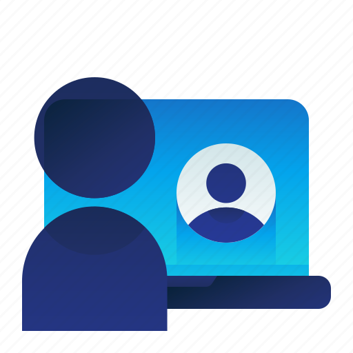 Call, communication, conference, laptop icon - Download on Iconfinder
