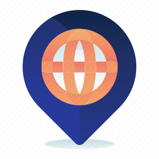 global, globe, location, map, pointer icon