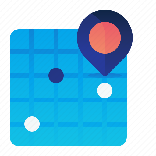 Grid, location, map, navigation icon - Download on Iconfinder