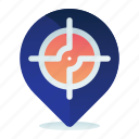direction, location, map, navigation, pin, target icon