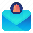 alert, bell, email, mail, message, notification icon