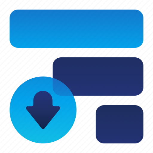 Arrow, down, list, move, priority icon - Download on Iconfinder