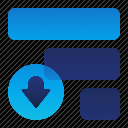 arrow, down, list, move, priority icon