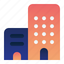 apartment, building, location, office icon