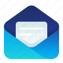 email, mail, message, open, read icon