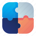 business, plugin, puzzle, strategy icon