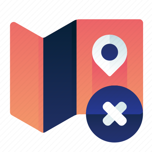 Cancel, delete, location, map, remove icon - Download on Iconfinder
