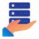 care, gesture, hand, maintenance, rack, server icon