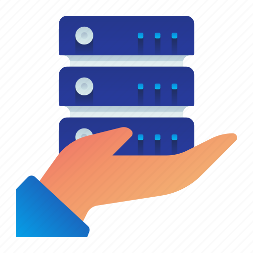 care, gesture, hand, maintenance, rack, server icon