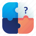 puzzle, solution, business, strategy icon