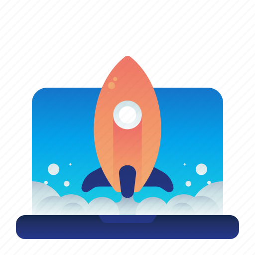 Computer, laptop, launch, monitor, startup icon - Download on Iconfinder
