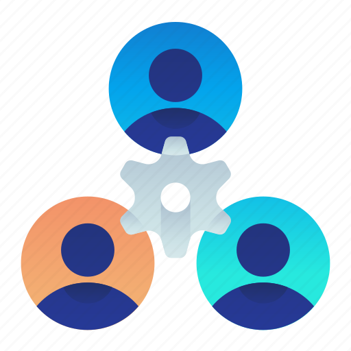 team, together, work icon