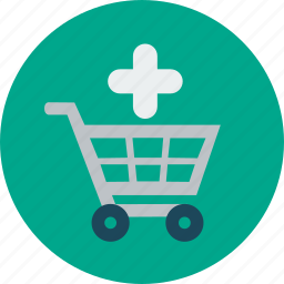 add, business, cart, ecommerce, online shopping, plus, to icon