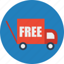 commerce, delivery, ecommerce, finance, free, online shopping, truck icon