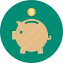 coin, dollar, financial, guardar, money, online shopping, save icon