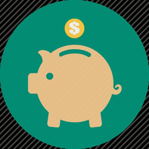 coin, dollar, financial, guardar, money, online shopping, save icon