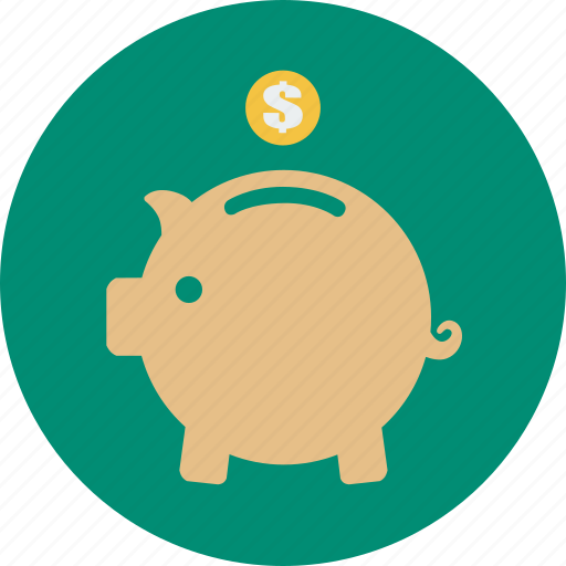 coin, dollar, financial, money, online shopping, save icon