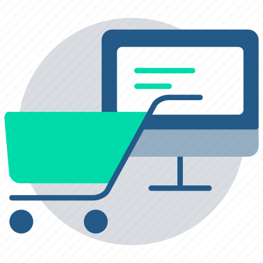 computer, credit card, ecommerce, payment, shopping, shopping cart, website icon